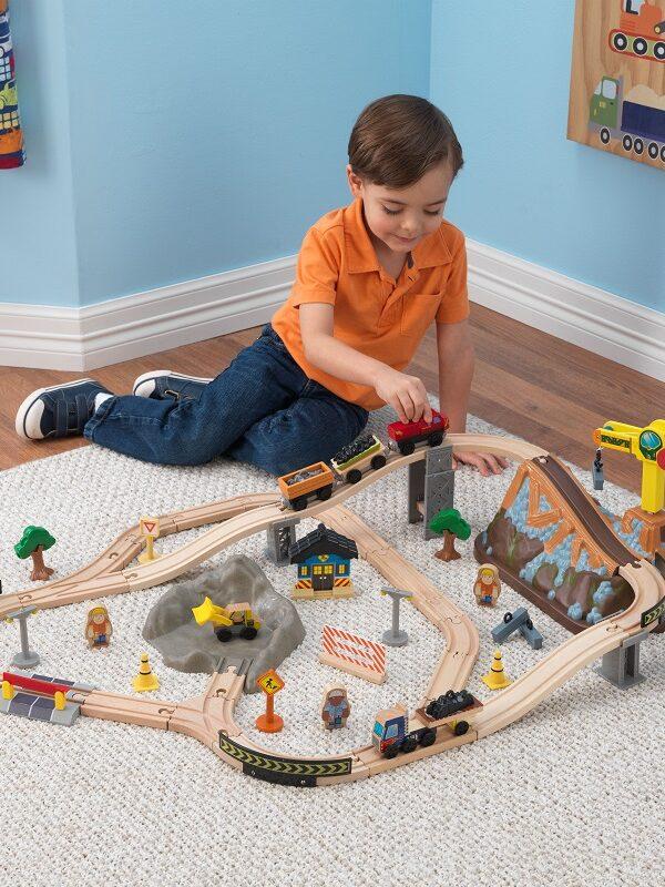 KidKraft Wooden Train Set 61-Piece $21.64 (Reg. $44)
