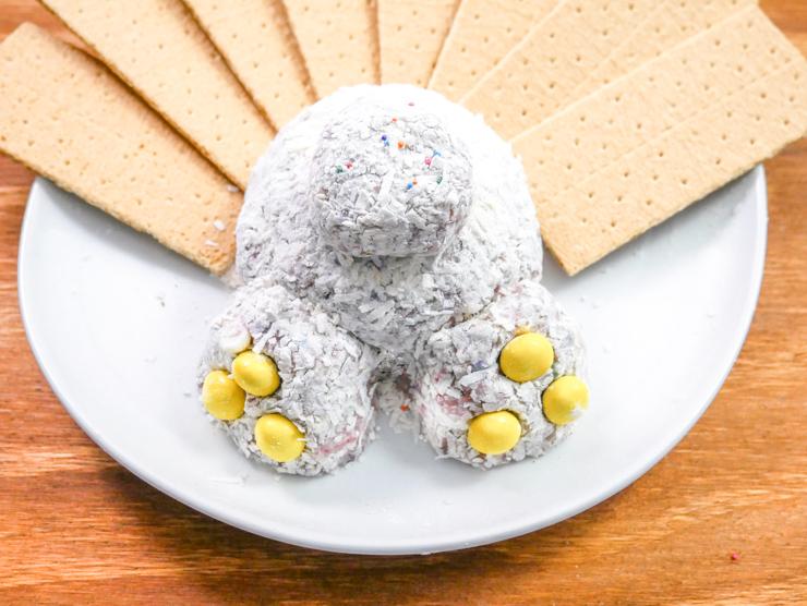 Easter Bunny Butt Cheesecake Ball