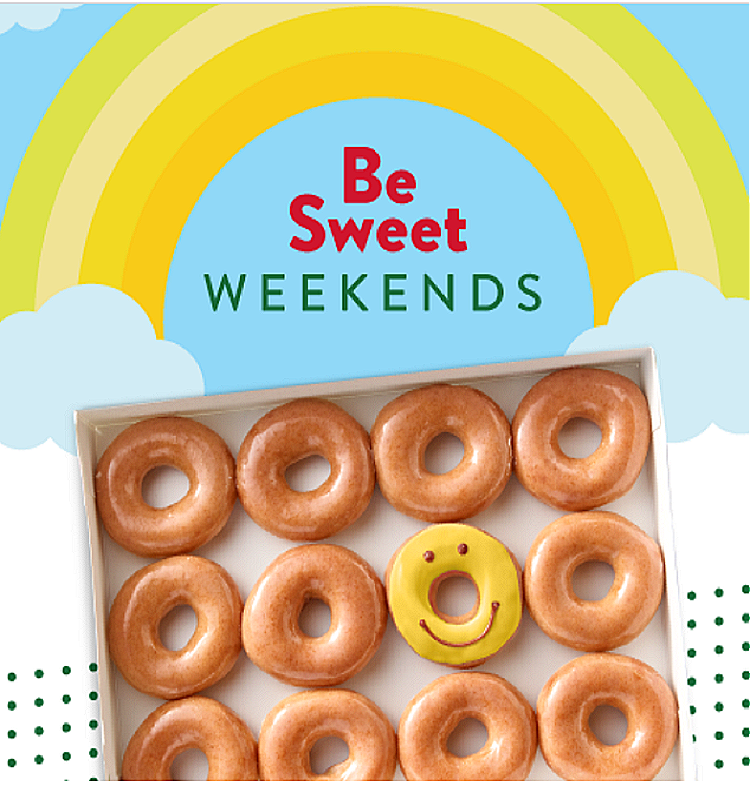 Be Sweet Weekends at Krispy Kreme