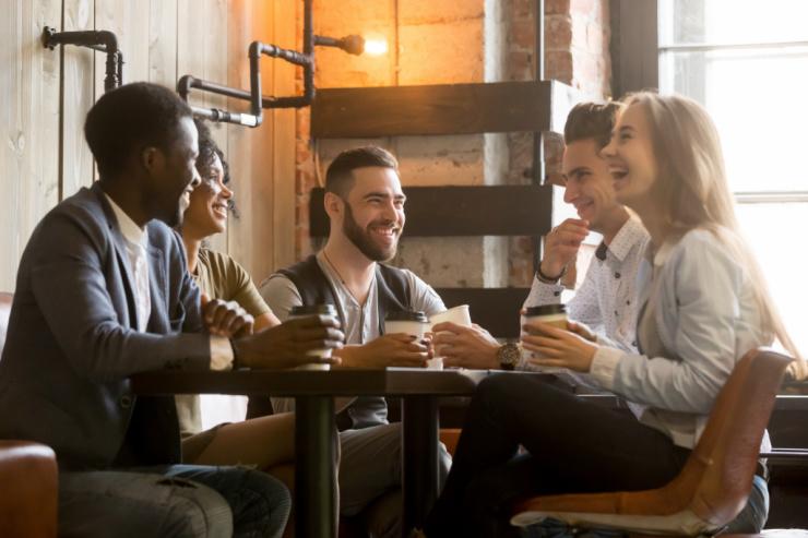 coffee shop guests