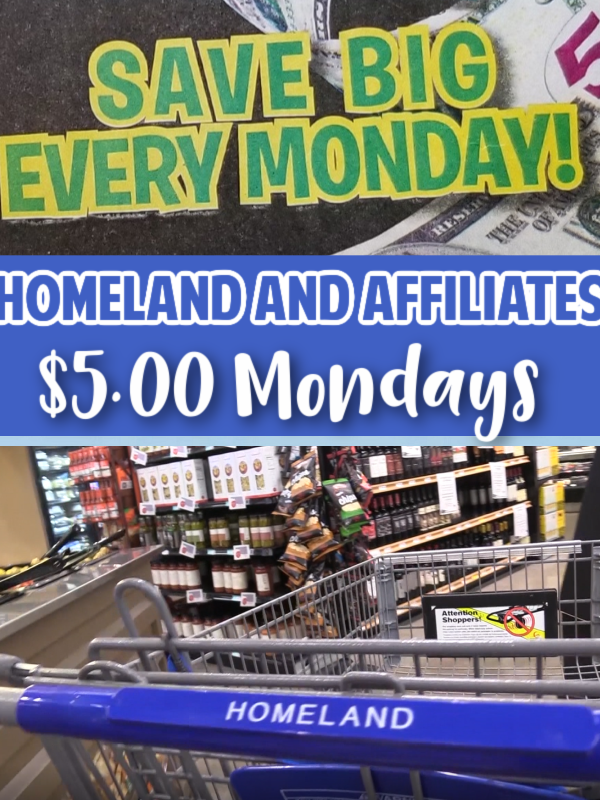 Homeland & Affiliates Five Dollar Monday Deals 3/8/21