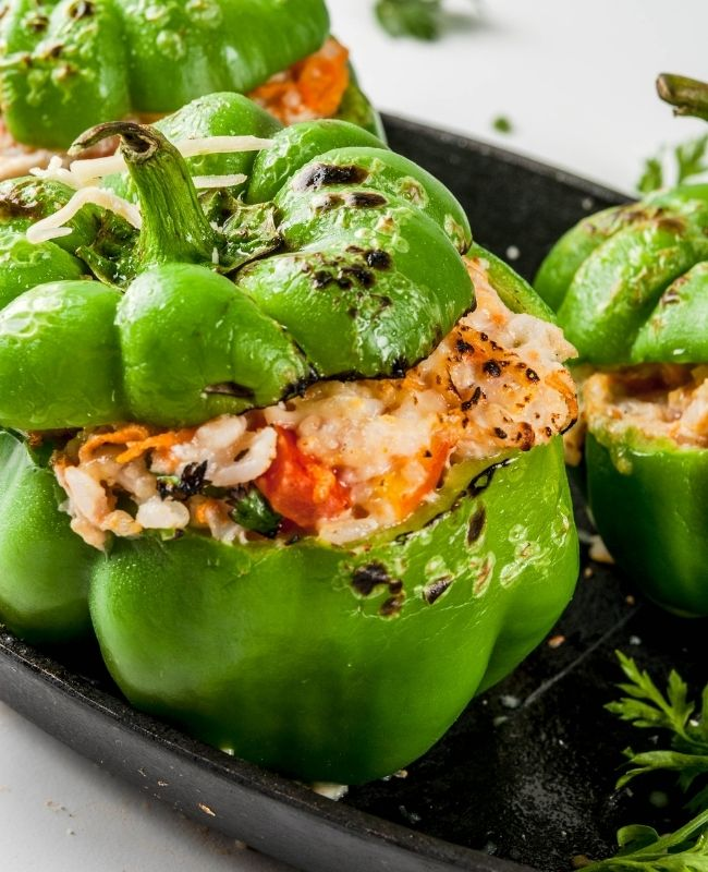 stuffed peppers with ground Turkey