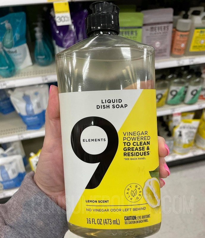 9 Elements Dish Soap $1.39 at Target