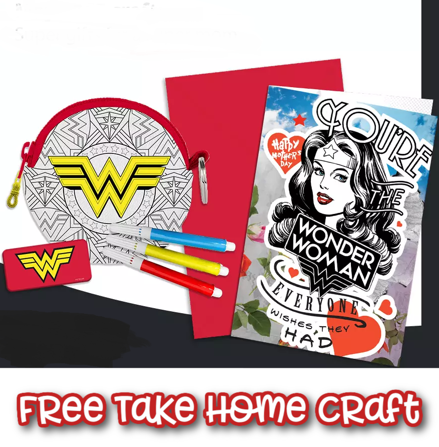FREE Wonder Woman Mother's Day Craft Kit Coming!