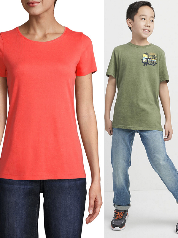womens and kids shirts at JCPenney