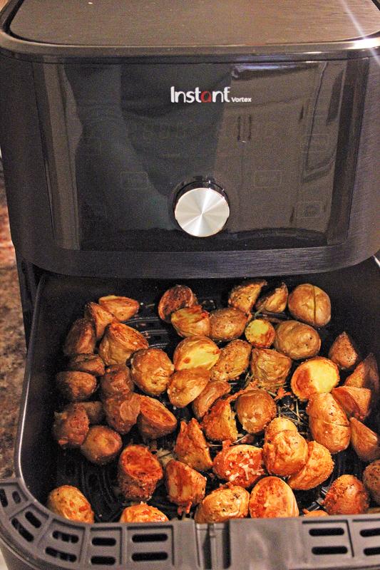 Air fryer rosemary parm potatoes
