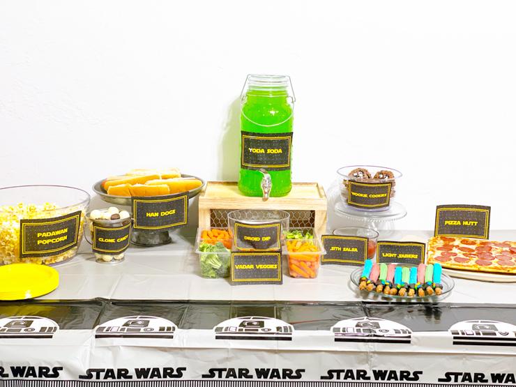 Printable Star Wars Food Labels