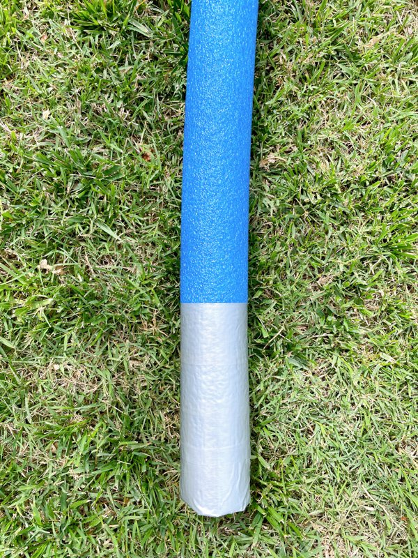 duct tape on pool noodle