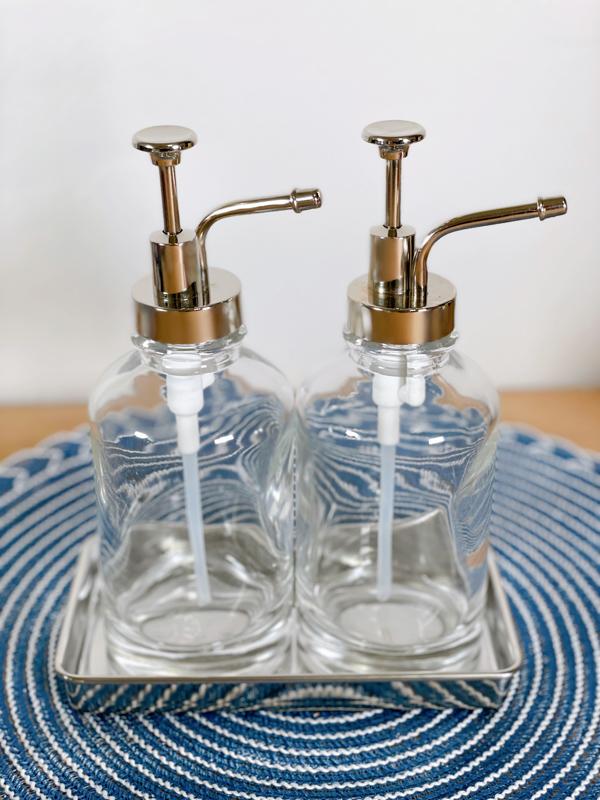 Glass soap dispenser set from target