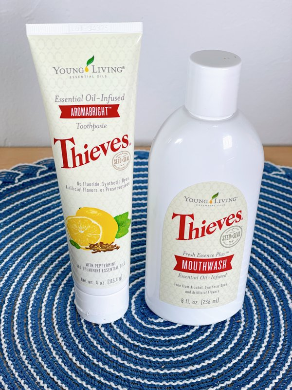 Thieves Toothpaste and mouthwash