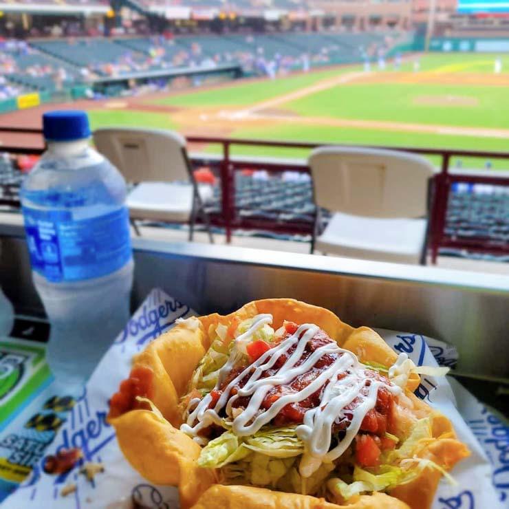 taco salad dodgers game