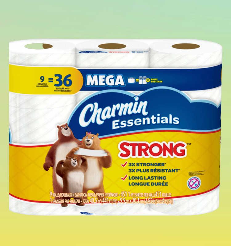 Charmin 9 mega roll bath tissue