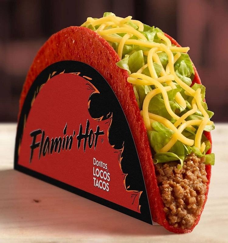 Flamin Hot Doritos Locos taco
