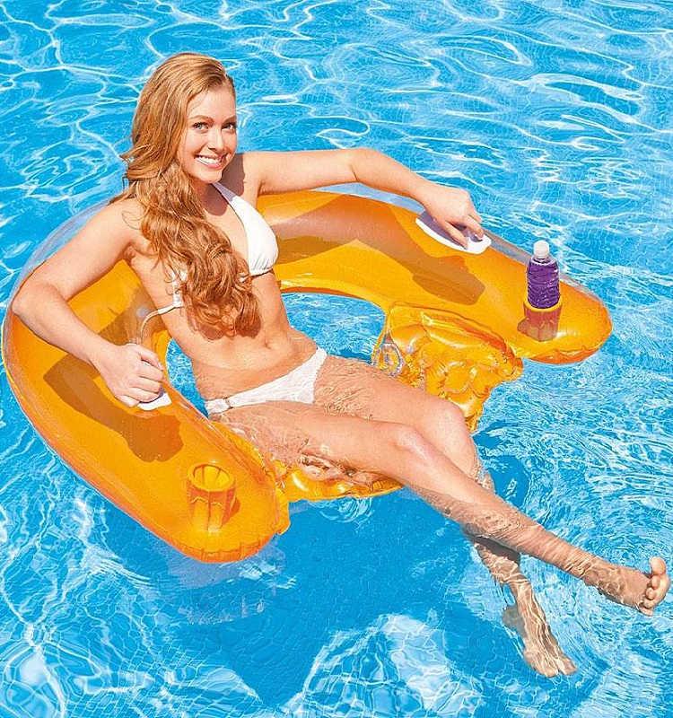 inflatable floating pool lounge