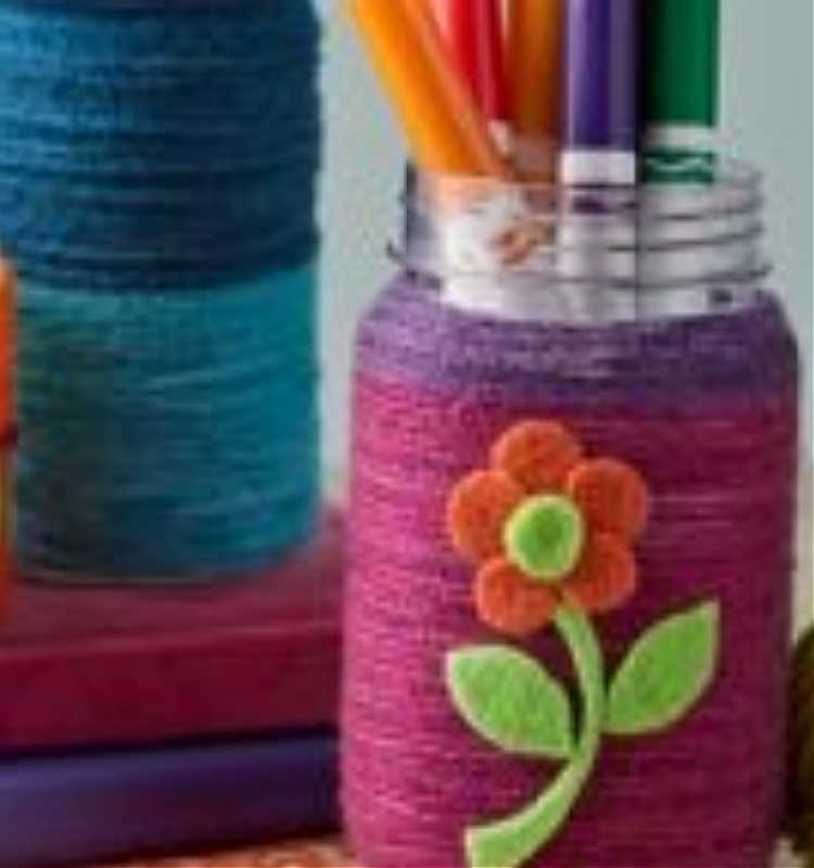Yarn Wrapped Containers Event at Michaels (It's Free)