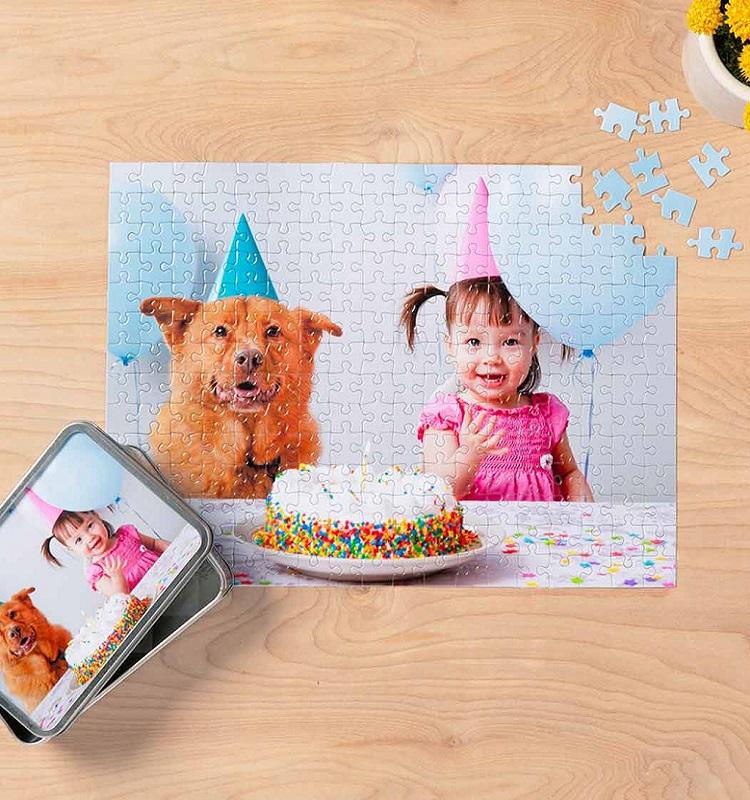Custom 10×14 Photo Puzzle with Tin $10.50