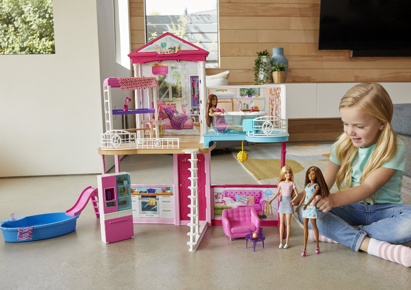 Barbie Dollhouse & Furniture Set With 3 Dolls Only $59 Shipped! *EXPIRED*