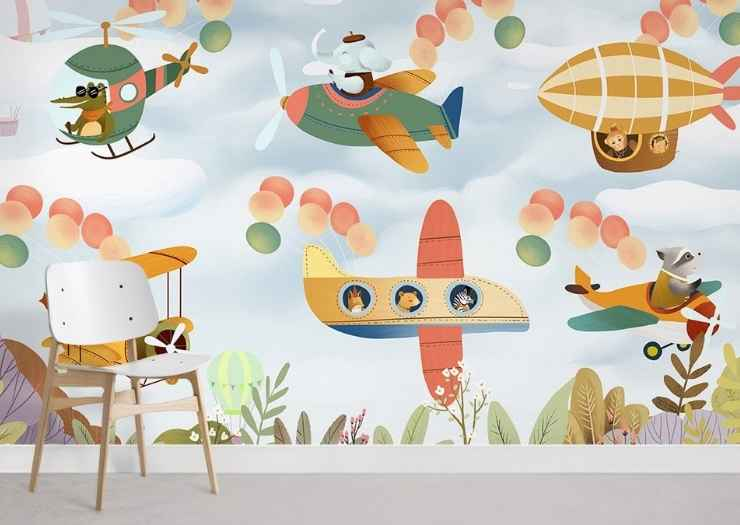 kids room wallpaper -Kids Bedroom Designs for Small Spaces