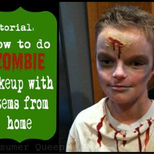 Tutorial: How To Do ZOMBIE Makeup With Items From Home!